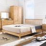 Giường đôi Ixora gỗ cao su 1m2 - Cozino