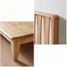 Giường đôi Poppy A gỗ cao su 1m8 - Cozino