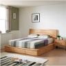 Giường đôi Poppy B gỗ cao su 2m0 - Cozino
