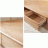 Giường đôi Poppy B gỗ cao su 1m8 - Cozino