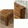 Giường đôi Begonia liền tủ đầu giường gỗ cao su 2m0 - Cozino
