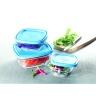 Bộ 3 hộp thực phẩm thủy tinh cường lực Pháp Duralex Freshbox 3size