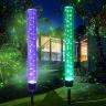 Bộ 2 đèn trang trí cảm biến ánh sáng năng lượng mặt trời Crytal Tube Legaxi