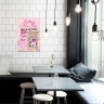 """Tranh trang trí quán trà sữa """"Biến buồn phiền thành niềm vui"""" W3913"""