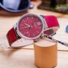 Đồng hồ nữ Julius Hàn Quốc JA-1181A dây da (đỏ)