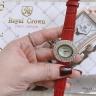 Đồng hồ nữ chính hãng Royal Crown 3630 dây da đỏ