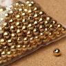 Charm bi bạc mạ vàng hạt tròn trơn - hạt cườm bạc mạ vàng lổ lớn 3mm