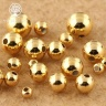 Charm bi bạc mạ vàng hạt tròn trơn - hạt cườm bạc mạ vàng 5mm