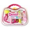 Bộ đồ chơi bác sĩ - Màu hồng có đèn báo (quai xách tròn)