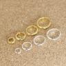 Charm bạc vòng viền tròn hạt đính giữa mạ vàng 3