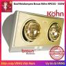Đèn sưởi nhà tắm 2 bóng Braun Kohn Plus KP02G