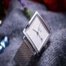 Đồng hồ unisex Julius Hàn Quốc JA-1207 mặt vuông dây thép có lịch