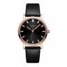 Đồng hồ nữ dây da chính hãng Julius Hàn Quốc JA-1200LD Đen