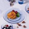 Bộ bàn ăn 12 món thủy tinh cường lực Pháp Duralex Lys Xanh Marine