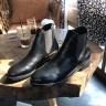 Giày chelsea boot nam đen trơn da bò cao cấp Lucacy MChelden