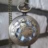 Đồng hồ pin quả quýt bỏ túi cổ điển retro tháng sinh 12 cung hoàng đạo Sư Tử Hải Sư Leo