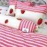 Bộ vỏ chăn ga gối 5 món cotton Hàn Julia 248BM16