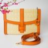 Túi cói thời trang màu cam NORD108