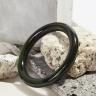Vòng tay đá mã não xanh đen thiên nhiên bản tròn mệnh thủy mộc - Ngọc Quý Gemstones