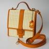 Túi cói thời trang màu cam NORD111