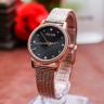 Đồng hồ nữ Julius JA-1219D dây lưới bông lúa Hàn Quốc chính hãng