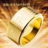 Bộ vòng, nhẫn, mặt dây chuyền bát nhã tâm kinh thép titan - Ngọc Quý Gemstones
