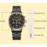 Đồng hồ nam 6 kim Hàn Quốc chính hãng JA-100D Đen
