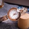 Đồng hồ nữ dây kim loại Hàn Quốc JA-624D đồng