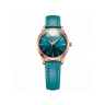 Đồng hồ nữ dây da Hàn Quốc JA-983LE xanh