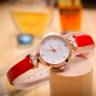 Đồng hồ nữ dây da Hàn Quốc JS-034A đỏ
