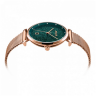 Đồng hồ nữ dây kim loại Hàn Quốc JS-003C đồng mặt xanh