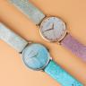 Đồng hồ thời trang nữ Erik von Sant 005.001.A mặt số ombre phối dây hai màu 34mm