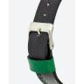 Đồng hồ thời trang unisex Erik von Sant 003.005.C mặt xanh họa tiết 3D dây da 38mm