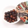 Combo 5 viên đá mắt hổ nâu đỏ 14mm - Ngọc Quý Gemstones