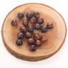 Combo 10 viên đá mắt hổ nâu đỏ 16mm - Ngọc Quý Gemstones