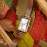 Đồng hồ nữ Hàn Quốc JULIUS JA-1215 dây thép mặt chữ nhật