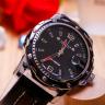 Đồng hồ nam dây da Julius Hàn Quốc JAH-007B Đen