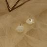 Bông hoa khuyên tai nữ - Đôi ngọc trai điêu khắc cao cấp - Trang sức Cô Tấm - ROSE PEARL B6789 -Bạc S925