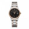 Đồng hồ nữ dây kim loại chính hãng Julius Hàn Quốc JA-1205LD Bạc mặt đen.