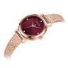 Đồng hồ nữ dây kim loại chính hãng Julius Star Hàn Quốc JS-045B Đồng mặt đỏ