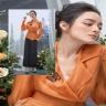 Áo kiểu tơ màu cam HeraDG - WAK19010