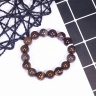 Vòng tay đá gỗ hóa thạch size hạt 12mm mệnh hỏa, mộc - Ngọc Quý Gemstones