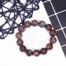 Vòng tay đá gỗ hóa thạch size hạt 14mm mệnh hỏa, mộc - Ngọc Quý Gemstones