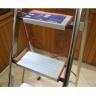 Thang ghế inox 5 bậc nhôm Ameca AMG-5IN tải trọng 150kg, bản bậc rộng có tay vịn