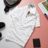 Áo thun nam cổ bẻ họa tiết mũi neo độc lạ chuẩn phong cách pigofashion aht24 màu trắng