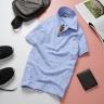 Áo thun nam cổ bẻ họa tiết mũi neo độc lạ chuẩn phong cách pigofashion aht24 màu xanh biển