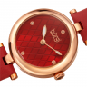 Đồng hồ thời trang nữ Burgi BUR196RD màu đỏ mặt số đan chéo độc đáo dây da 32mm