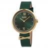 Đồng hồ thời trang nữ Burgi BUR264GN màu xanh lá điểm xuyến viền đá swarovski dây da 35mm