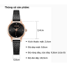 Đồng hồ nữ dây kim loại chính hãng Julius Star Hàn Quốc JS-045C Đen.
