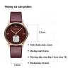 Đồng hồ nữ Julius Hàn  Quốc JA-1224 dây nâu đỏ ( mận)